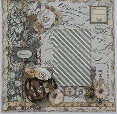Vintage Scrapbook Page at Diane's Niceties