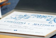 French Wedding Invitation ... This is the Romantic French County design.. Blue wedding theme ... Romantic wedding Theme