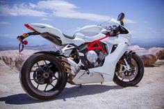 MV Agusta's F3, 675cc three-cylinder supersport, rear 3/4