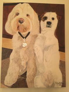 Maisie the Jack Shit & Milo the Tibetan Terrier by Kerry Sutton