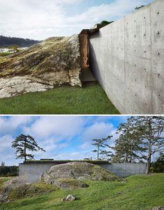 Camouflaged Concrete: Hill House Blends Into Landscape
