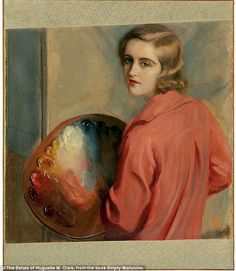 Huguette Clark was a collector as well as an artist herself. Pictured is a self-portrait the heiress made in her 20s ~ article about her estate.