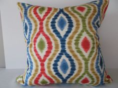 Your place to buy and sell all things handmade Modern Decorative Pillows, Decorative Pillow Covers, Ikat Pillows, Accent Pillows, Pattern Design, Print Design, Geometric Designs, Antique Gold, Color Schemes