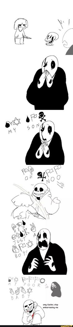 undertale, sans, gaster, papyrus--This is both hilarious and horribly terribly tragic.
