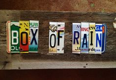 BOX of RAIN OOAK Grateful Dead upcycled recycled by tomboyART, $175.00