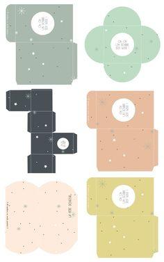 FREE printable gift boxes // Vie de Miettes by jana Envelope Box, Origami Envelope, Printable Box, Free Printables, Envelopes, Diy Paper, Paper Crafts, Diy Box, Gift Boxes
