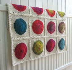Love this blanket to redo  my guest room. Great use of Noro or any yarn w/good color repeats