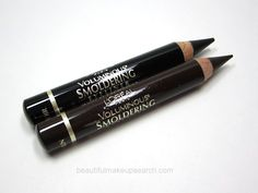 L'Oreal Voluminous Smouldering Liner in Black - really creamy & intensely black, yet the pencil holds its shape for defined lining. Really impressed.