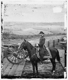 Gen. William T. Sherman on Horseback at Federal Fort No. 7 - Atlanta GA, 1864