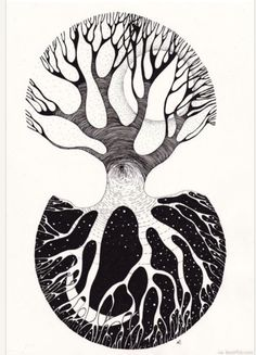 Ying-yang tree Conscious and Unconscious