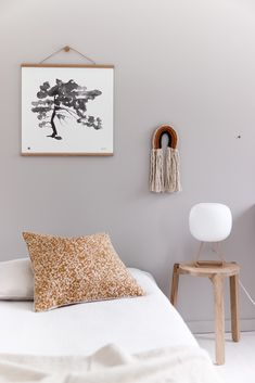 Wake up with the beautiful Toad lamp next to the bed.