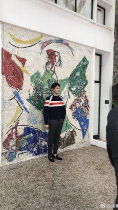 180528 Sehun at Louis Vuitton 2019 Cruise Collection