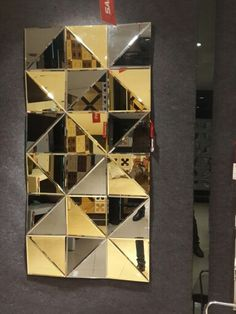 1001 black gpld T Mirror Panel Wall, Mirror Tiles, Diy Mirror, Beveled Mirror, Brass Mirror, Glass Wall Art, Stained Glass Art, Mosaic Glass, Wooden Wall Design
