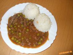 Mäsko Stroganov dá sa robiť aj s kuracím. Pork Recipes, Food And Drink