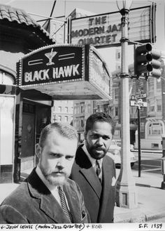 John Lewis (Modern Jazz Quartet) outside the Blackhawk Club at Hyde & Turk  • San Francisco, 1959