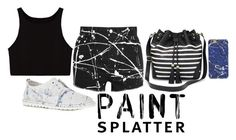 """Paint Splatter"" by captainsilly ❤ liked on Polyvore featuring Marsèll, Yves Saint Laurent and Apt. 9"