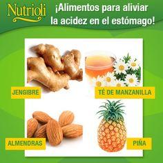 Alimentos para aliviar la acidez en el estmago!
