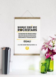 Mamas sind wie Rockstars -  Druck von Formart von FORMART - Zeit für Schönes! auf DaWanda.com