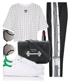 """Untitled #5612"" by beatrizvilar ❤ liked on Polyvore featuring Fendi, adidas Originals, NARS Cosmetics, Prada and adidas"