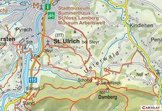 Wanderkarte Rundwanderweg St. Ulrich mit Friedensweg