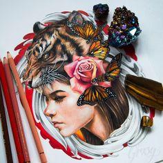 ART and TATTOO: Girly Tattoos, Skull Tattoos, Love Tattoos, Body Art Tattoos, Tattoo Drawings, New Tattoos, Maori Tattoos, Tatoos, Girl Face Drawing