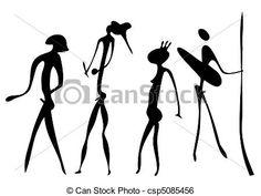Vetor - guerreiros - primitivo arte - vetorial - estoque de ilustração, ilustrações royalty free, banco de ícone clip arte, banco de ícones clip arte, fotos EPS, fotos, gráfico, gráficos, desenho, desenhos. arte