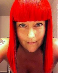 Red Hair with black underneath. Missed the red, so brought it back big time. #redhair