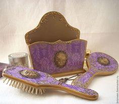 """Купить Набор для туалетного столика """"Принцесса Востока"""" - фиолетовый, для туалетного столика, набор акссессуаров"""