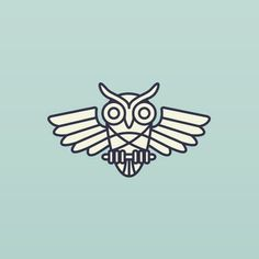 Little owl guy in the works. #owl #logo #illustration #bird #lineart #design #stevewolfdesigns