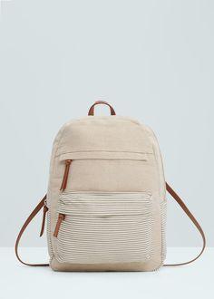Front pocket backpack | MANGO