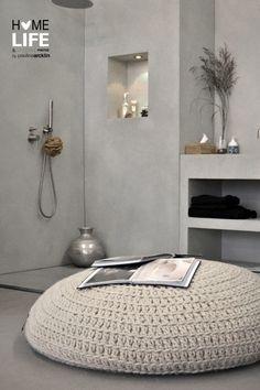 salle de bain enfants- murs en béton ciré
