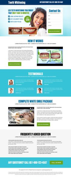 best-teeth-whitening-treatment-leads-lp-17 | Teeth Whitening landing page design preview.