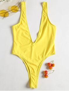 SheMoment - 2019 New Solid Front Thong Bodysuit Bathing Suit Swimwear Model, Swimwear Sale, Swimwear Brands, Swimwear Fashion, Bikini Swimwear, Swimsuits, Crop Top And Leggings, Lace Lingerie Set, Bathing Suits