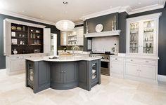 Single pendant over kitchen island   Sleek Painted Kitchen – Tom Howley