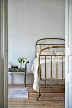 old fashioned bed - dustjacket attic: Interiors | Swedish Cottage