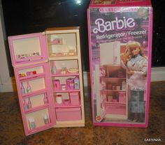 Barbie Sweet Roses Refrigerator/Freezer by Mattel, 1987 Barbie 90s, Barbie Doll Set, Barbie World, Barbie And Ken, Barbie Life, Vintage Barbie, Vintage Toys, 90s Childhood, My Childhood Memories