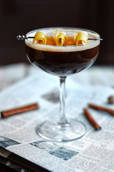 Stout ginger flip (blackstrap rum, allspice dram, ginger liquor, chocolate bitters, egg white, stout)