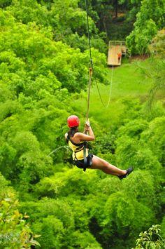 Zip lining in Kauai!