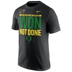 best service f139b 5f309 Oregon Ducks Nike Black 2015 Rose Bowl Champions Locker Room T-Shirt