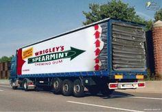 Image of Wrigleys van graphic in clever ad