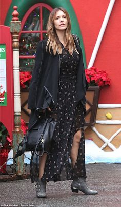 Christmas cracker!Katharine McPhee nailed off-duty chic, look stunning in a bohemian ensemble as she made her way round The Grove shopping centre in Los Angeles on Tuesday