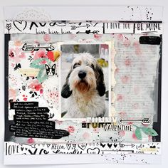 My funny Valentine 12x12 scrapbook process ft Crate Paper-Hello Love - Life of Julia