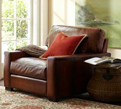 Turner Leather Armchair | Pottery Barn
