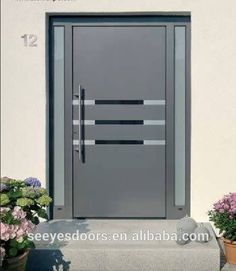 Discover all the information about the product Entry door / swing / wooden / acoustic DUOLINE - egoKiefer and find where you can buy it. Modern Entrance Door, Modern Exterior Doors, Wood Entry Doors, Modern Front Door, Entrance Doors, Wooden Doors, Main Entrance, Main Door Design, Gate Design