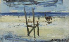 Claude VENARD no 3 Huile sur toile, 13 x 21