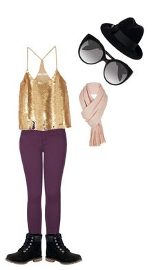 """""""rocker girl chic"""" by teenwolfs1-6fagirl on Polyvore featuring 2LUV, Gucci, TIBI, Timberland, Free People and Alexander McQueen"""