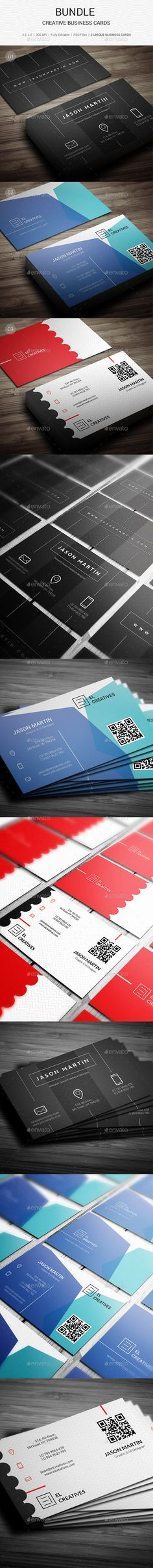 Bundle - Creative Business Cards Template #design Download: http://graphicriver.net/item/bundle-creative-business-cards-136/12165000?ref=ksioks
