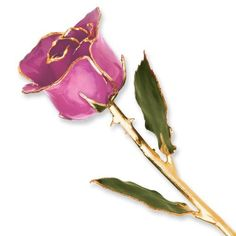 Long Stem Dipped 24k Gold Trim Lilac Pink Rose In Gold Gift Box by JewelryImpressions. Save 48 Off!. $62.96. Tell her she makes you happy with this gorgeous lilac pink rose. This cherished gift is a real rose dipped in lilac pink lacquer and trimmed in genuine 24k gold. This rose is a perfect gift either by itself or combined with any of our other beautiful colors to create a colorful bouquet. Each rose measures 11-12 inches long and is packaged in a lovely gold foil gift box with clear v...