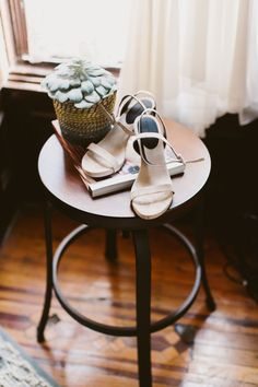 Terry and Chad's Hip Brooklyn Courthouse Wedding | Shoes: Alexander Wang