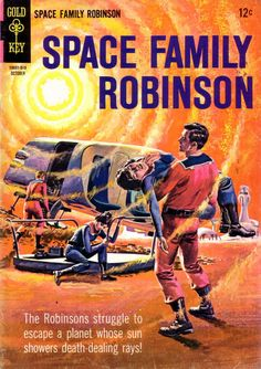 Space Family Robinson - these comic books came to us as part of the inherited 'comic book bounty' I've mentioned here earlier. In a bit of turnaround success, it was the comic book's popularity that led to the TV series. The comics were subtitled 'Lost In Space' after the launch of the TV show though some differences remained. If memory serves, the kids were named Timmy & Tammy in the comic book, and there was no older daughter either.  The stories held up as well as the TV series episodes…